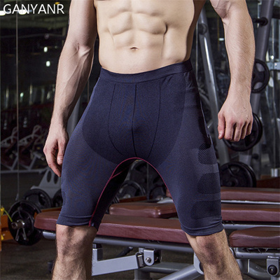 c79863fb698f6 Running Tights Men Yoga Leggings Fitness Basketball Compression Shorts  Quick Dry Gym Athletic