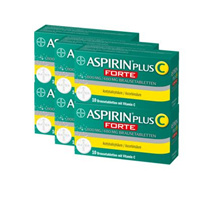 Bayer Aspirin forte 10 efferverscent tablets 800mg X 6 (with vitamin C)