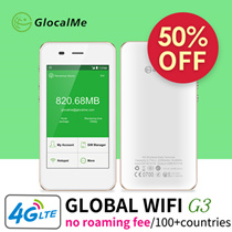 【1 Year Warranty】GlocalMe Portable WiFi Router 4G LTE Fast Network Sim-free No-Roaming Pocket Mifi