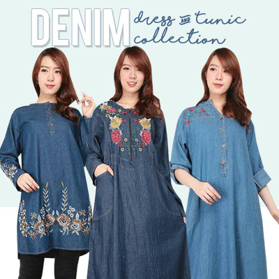 TUNIK JEANS COLLECTION Deals for only Rp105.000 instead of Rp105.000