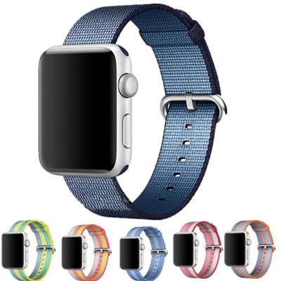 141a6cef6ed12d HXXH Fashion Woven Nylon Apple Watch Band Classic Replacement Wrist Strap  Sport Bracelet Wristwatch