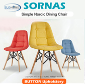 【SORNAS】Simple Nordic Style Chair/Dining Chair/Study Chair/Computer Chair/Office Chair