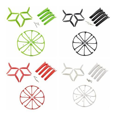 LeadingStar Aircraft Upgrade Parts Landing Gear + Propeller + Protective  Cover for Hubsan X4 H502S H