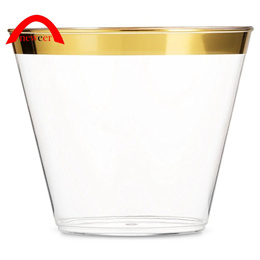 50pcs Lot 201300Ml 9Oz Gold Plastic Wedding Party Disposable Cups neweer