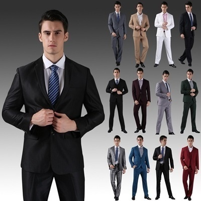250943632 Qoo10 - Men Style Casual suits (Blazer + pants) 19 Style 12 colors ...