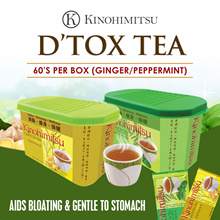 Kinohimitsu Detox Tea 60s x 1 box (Ginger/Peppermint) SLIMMER HEALTHIER YOU *Clear Toxins