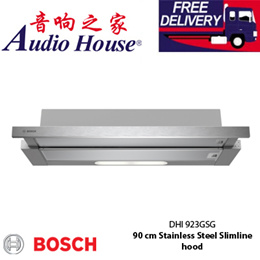 BOSCH 90cm stainless steelslin hood/ Dishwasher safe grease filter/ Telescopic design/ DHI 923GSG