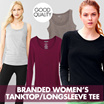 [3 MODEL] BRANDED Womens Tank Top - Long Sleeve Tee / Good Quality / Kaos Wanita Lengan Panjang / Tshirt / Blouse / Sweater / cardigan