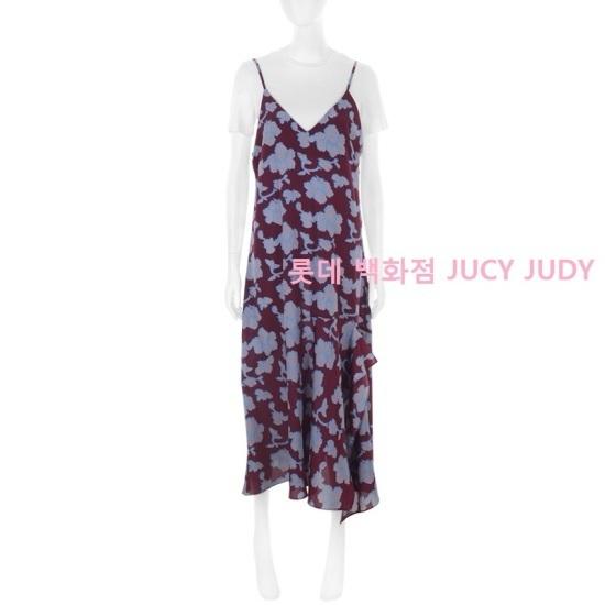 ジューシージュディビッグフラワー捺染スリップワンピースHROP325H シフォン/レース/フリル/ 韓国ファッション