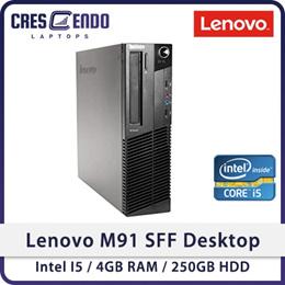 Refurbished Lenovo M91 SFF Desktop / Intel I5 / 4GB RAM / 250GB HDD / Windows 7 / 1 Month Warranty