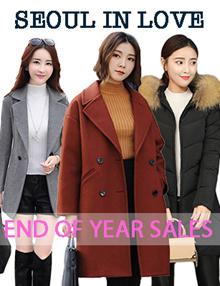 WOMEN WARM KOREA JACKET COATS NEXT DAY DELIVERY
