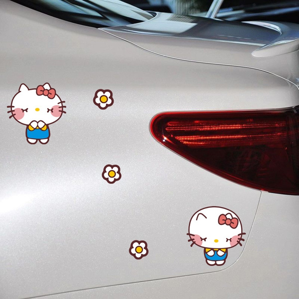 Fit to viewer prev next cartoon funny hello kitty bow car stickers cover scratches