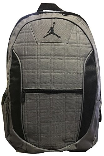 139be92e37 Qoo10 - Jordan Grid 2-Strap Backpack - Dark Graphite