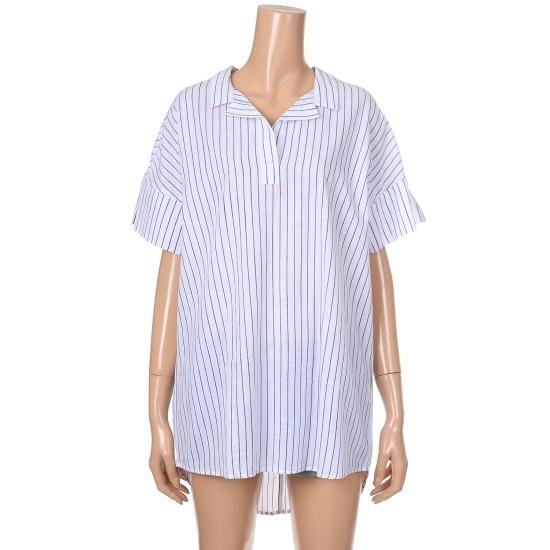 エッチコネクト女性・ストライプルーズフィットワンピース070121439 面ワンピース/ 韓国ファッション