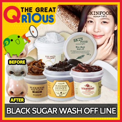 [Skin Food] Black Sugar Mask Wash Off / Rice Mask Wash Off / Egg White For Mask Wash Off / Black Sug Deals for only Rp173.900 instead of Rp173.900