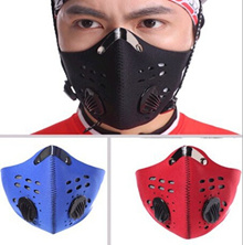 Sport Anti-fog and haze magic scarf riding face mask outdoor high elastic vented motorcycle helmet Mask Filter Air Pollutant for Bike Bicycle/Blue Red Black