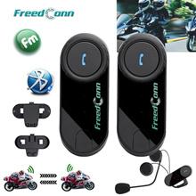 1PCS/2PCS BT Motorcycle Helmet Bluetooth Headset Motorbike Intercom Headset 800M