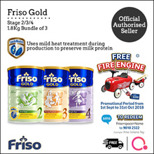 [FRISO] Friso Gold 2/3/4 1.8kg – 3 tin bundle | Made in Netherlands for SG | Official Friso Seller