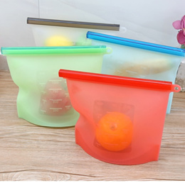 Vacuum Silicone Storage Bag Sealed Food Fruits Container Reusable Ziplock