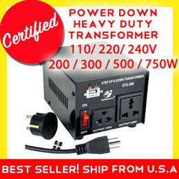 Goldsource Step down Voltage Transformer Converter  Power Down 110/220/240V 200W/300W/500W/750W