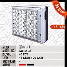 Lampu emergency / darurat Aoki AK5502 Mini segi 42 led murah meriah