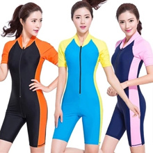 Bust new one-piece swimsuit swimsuit with sleeves sport professional men and women long sleeve tra