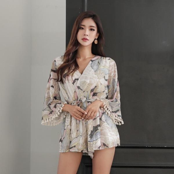 三ゼリータッセルつなぎひもSETnew ミニワンピース/ワンピース/韓国ファッション