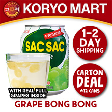 Korean Drinks /Sac Sac Grape/Orange/Crushed Peach/Crunch Pear/Sikhye