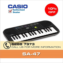 Kids Casio Mini Keyboard SA-47 with 1 Year Official Casio Warranty