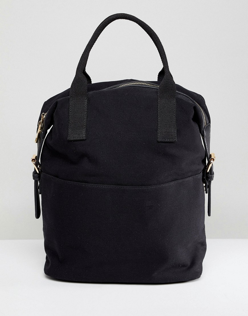 226c7740a actual size. prev next. 아소스 ASOS DESIGN zip over canvas backpack with double  handle