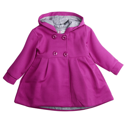2a6ac9405629 Autumn Winter 2017 Baby Girl Toddler Warm Fleece Winter Double-breasted Snow  Jacket Suit Clothes