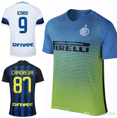the latest 4c296 4c617 2017 Inter Milan Soccer Jersey Icardi Giovanna Candreva Inter Jerseys  2016/17 Milan Home Blue Away W