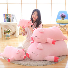 2018 New Bigger Size Toys Cartoon Pink Pig Plush Toys Fat Pig Pillow Soft Cushion Chinese Zodiac Pig