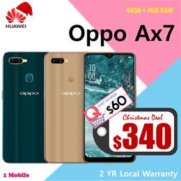 Oppo Ax7 64GB + 4GB RAM / 2 YEARS WARRANTY BY OPPO