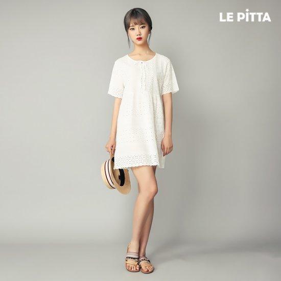 ルピタルピタリボン・ショットワンピースC172TOP657 面ワンピース/ 韓国ファッション