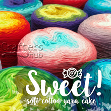 Sweet! Soft cotton yarn cake / Multi color cotton yarn cake / Gradient yarn for crochet and knitting