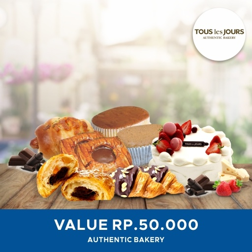 [DESSERT] Tous Les Jours/ 50K/ Value Mobile-Voucher Deals for only Rp48.500 instead of Rp48.500