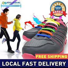 [Local Delivery] ★MADE IN KOREA★16 PCS Silicon Shoelace/Shoes Laces/ Sneakers Dress shoes/shoestring