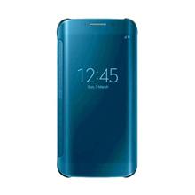 Wallet Mirror View Flip Cover Oppo A3S - Biru