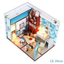 Doraemon DIY Miniature House Kit with light free nobita [ Birthday Gift / Valentine / Present]