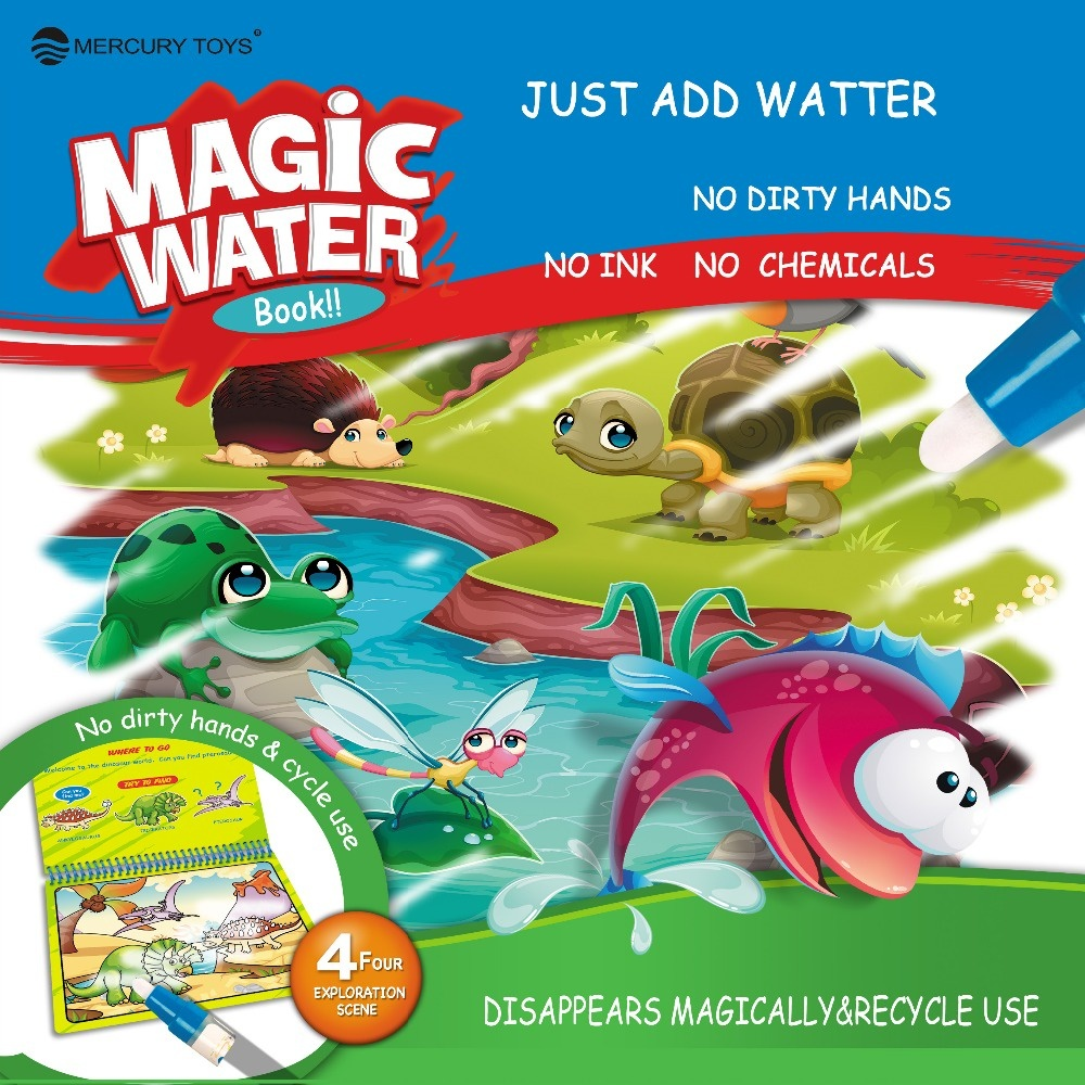 wholesale WATER DRAWING BOOK MAGIC PEN KIDS DOODLE COLORING BOOK