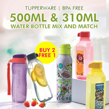 From $15.9 Buy 2 Get 1 Free ★Authentic Tupperware★ Mix and Match 310ml / 500ml Water Bottles