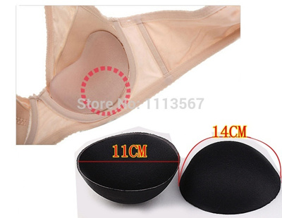 Wholesale 50Set Black Sewing In Bra Cups Soft Foam Bra Round Enhancers  Swimsuit Chest Pad sponge Br
