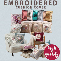 🌸🏡 EMBROIDERED Hari Raya Sofa Seat Chair Cushion Pillow Cover Decorations | OVER 50 DESIGNS