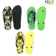 29K Mens Pack Of 3 Stylish Comfortable Flip-Flops (Printed Design)