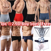Buy 5 get 1 free!Mens Brief/3D-Convex mens underwear/Modal Mens boxer/Mens panty/Breathable and Soft
