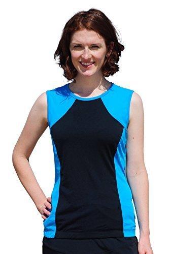 2902bb2671986 (HydroChic) HydroChic Womens Tidal Tank Chlorine Proof Sporty Sleeveless  Swim n Gym Top