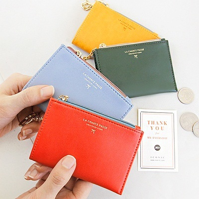 huge discount 01b66 49af7 ICONICSWEET MANGO] ICONIC Key Coin Wallet ver.2 - [ Card Case Money Purse  Card Holder Zipper Pouch ]