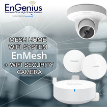 MESH Home WiFi System + Access Point Mesh Security Camera-1st In The World. 3 Yrs warranty
