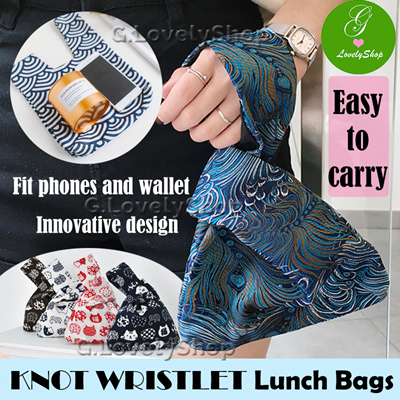 4566594f8 Knot Wristlets Lunch Bag Tote. Cute Bags Pouches. Japanese designs. Easy to  use